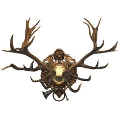 19th Century Red Stag Hunt Trophy from Kaiser Wilhelm II's 1892 Eulenburg Hunt