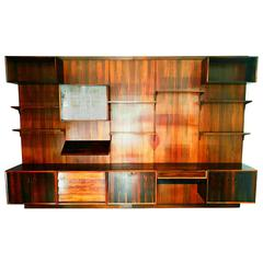 Rare Rio Palisander Wall Unit by Poul Cadovius for Cado, Denmark, 1960s