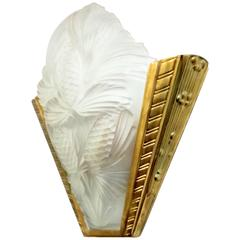 French Art Deco Pine Cone Wall Sconces