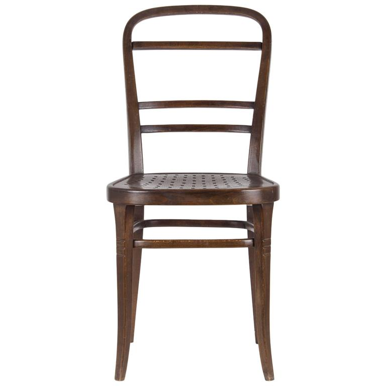 Chair Designed by Otto Wagner for the Viennese Savings Bank, 1904 For Sale
