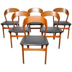 Set of Six Randers Mobelfabrik Teak Dining Chairs, Denmark, 1950s