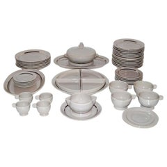 Jean Luce Table Ware in Grey with Platinum Banding