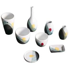 Set of Ceramics Designed by Ettore Sottsass for Bitossi