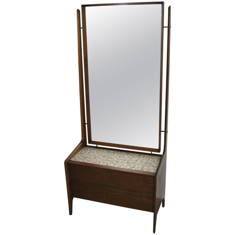 Danish Modern Cheval Mirror By Arne Vodder Circa 1960s At