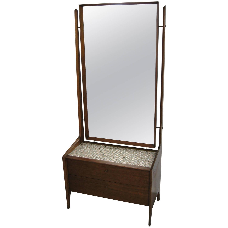 Mid Century Modern Cheval Mirror Dresser For Sale At 1stdibs
