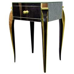 Mirrored Art Deco Side Table in the Style of Arbus, France, 1930