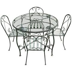 Mid-Century Iron Garden Patio Set