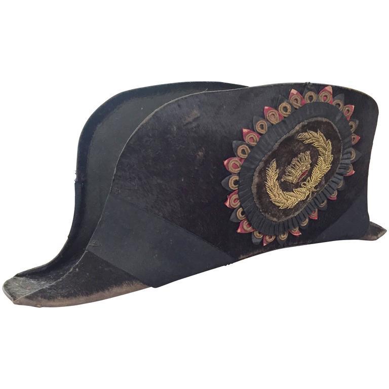 Great Early American Bicorn Hat from Masonic Order Lodge Odd Fellows