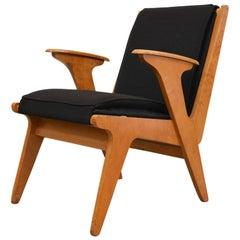 Plywood Midcentury Sliedrecht Chair for 't Spectrum, Netherlands