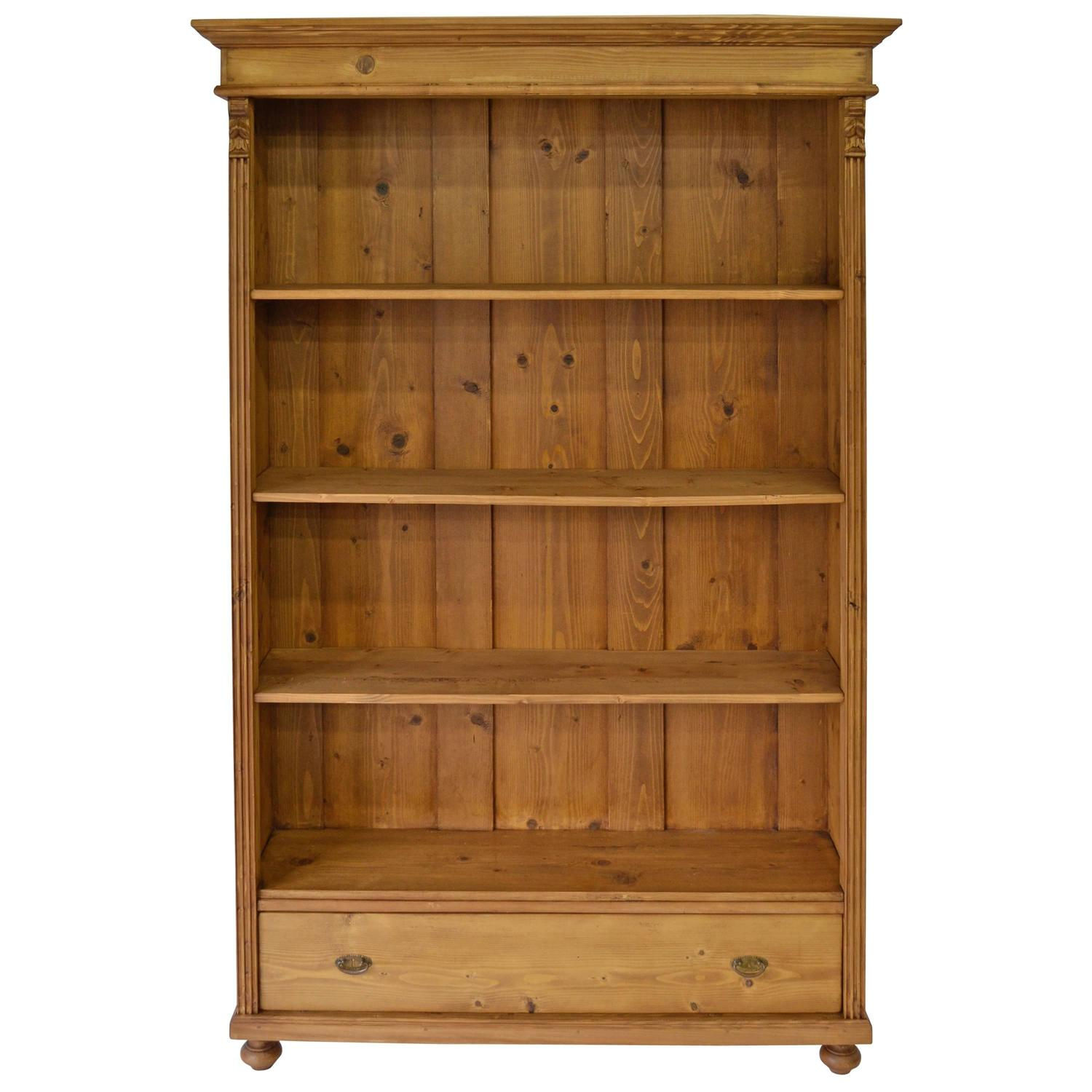 pine open bookcase at 1stdibs