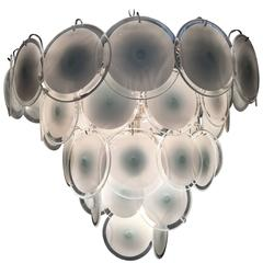 Charming Murano Disc Chandelier by Vistosi, 1970s