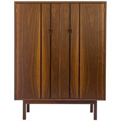 H. Paul Browning for Stanley Furniture Co. Walnut and Rosewood Highboy