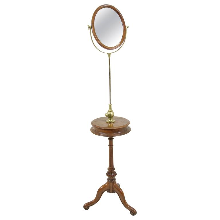 Antique Shaving Mirror Stand