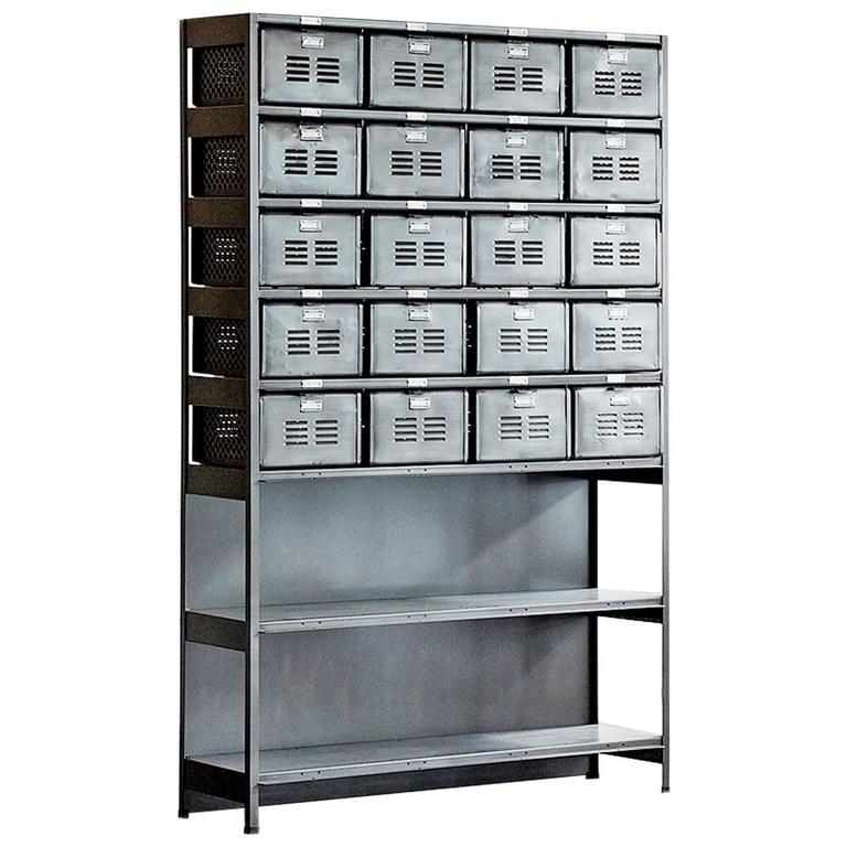 Custom Basket Locker Shelf Unit