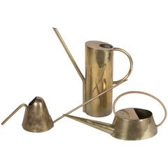Three Brass Watering Cans by Carl Auböck
