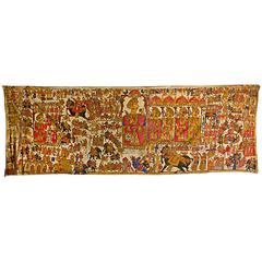 Mogul King Themed Indian Tapestry, Agra, circa 1930