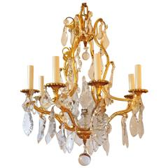 Elegant French Bronze Doré Chandelier