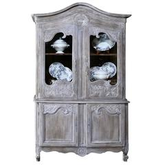18th Century French Whitewashed Buffet a Deux Corps