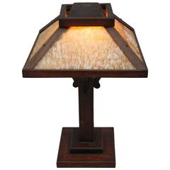 Awesome Arts U0026amp; Crafts Period Oak Table Lamp