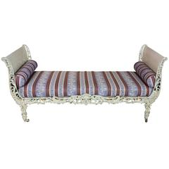 French Louis XV Style Cast-Iron Daybed