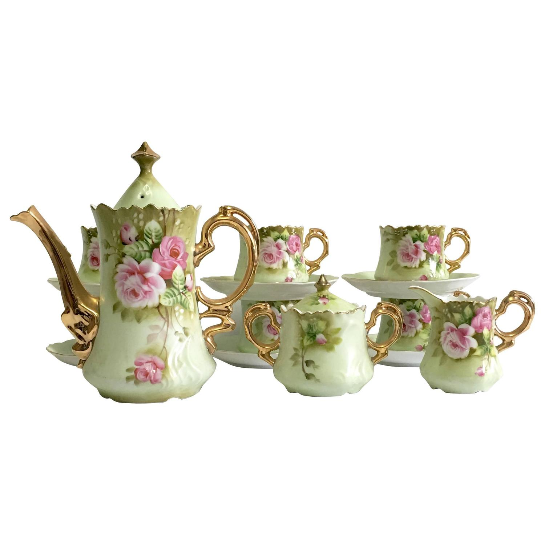 tea set vintage roses wallpaper - photo #33
