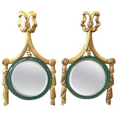 Two Italian Giltwood Ribbon Mirrors