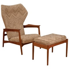 Danish Ib Kofod-Larsen Reclining Lounge Chair