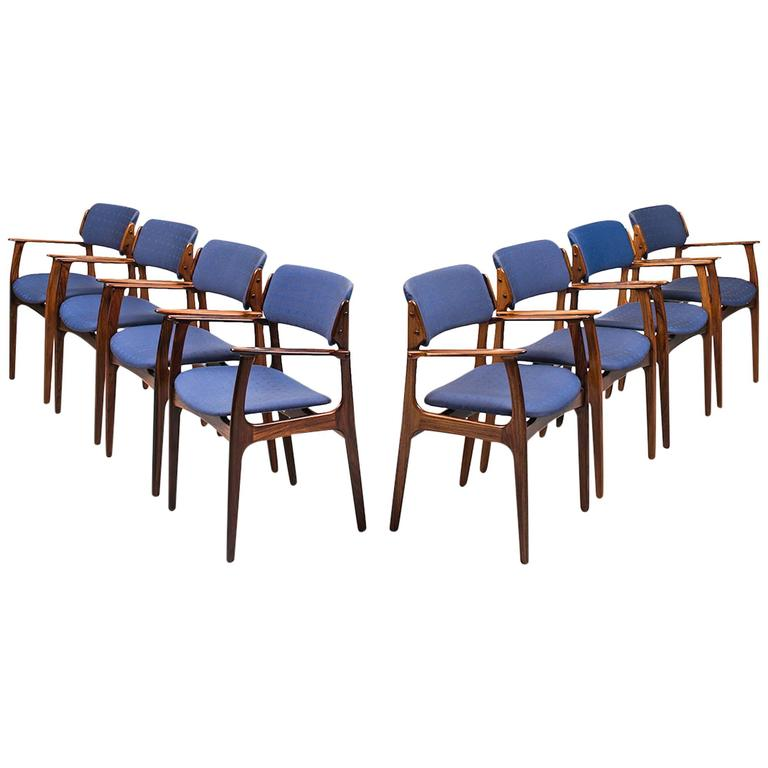 Erik Buch Armchairs Model Od 49 Produced By Oddense
