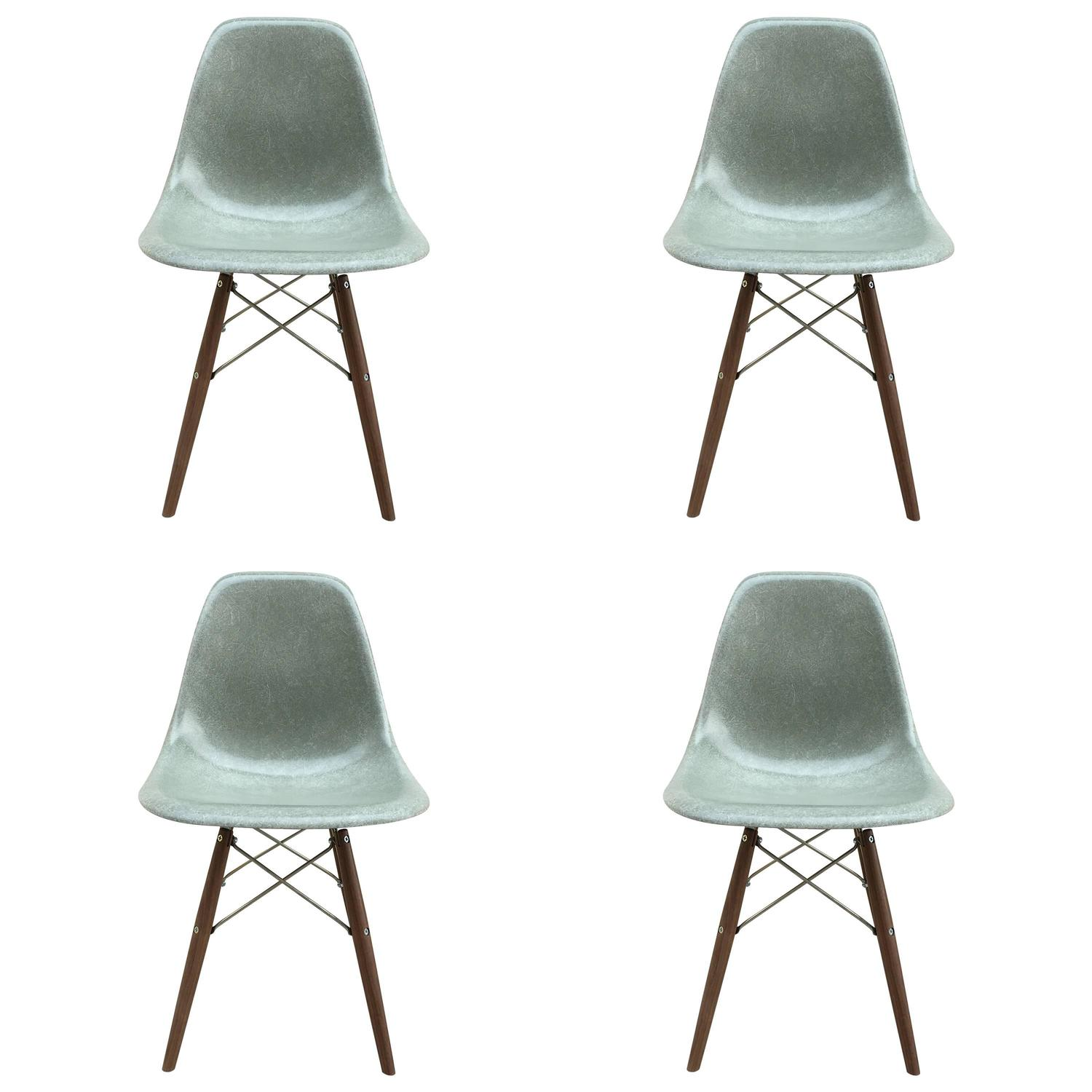 Four Herman Miller Eames Seafoam Dining Chairs For Sale at  : 4757653z from www.1stdibs.com size 1500 x 1500 jpeg 101kB