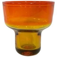 1950s Rare Blenko Glasstangerine Amberina Bowl or Vase