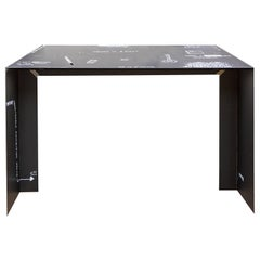 21st Century by Giovanni Casellato & MarCo Raparelli Metal Desk Table Black