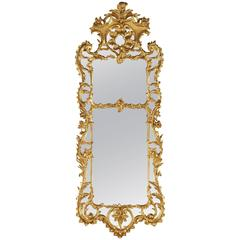 Antique Large Carved Giltwood Mirror