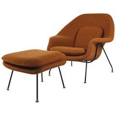 """Womb Chair"" and Its Ottoman by Eero Saarinen, 1950-1960"