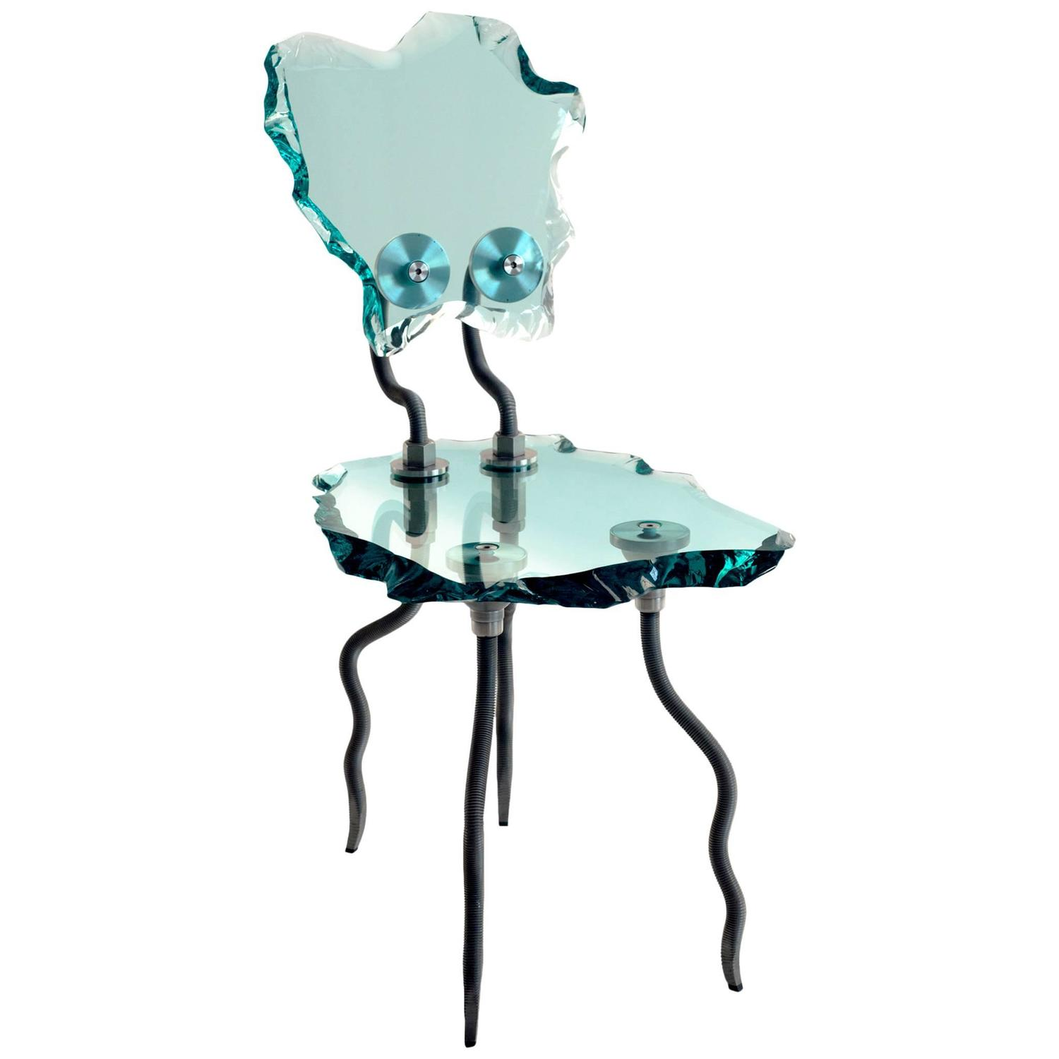 Etruscan Chair Glass And Steel For Sale At 1stdibs