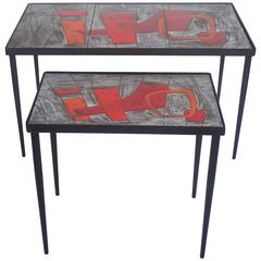 Two Side Tables by Robert & Jean Cloutier