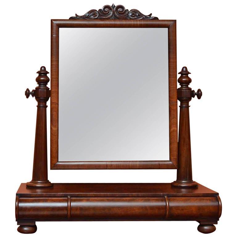 19th Century Victorian Mahogany Dressing Table Mirror
