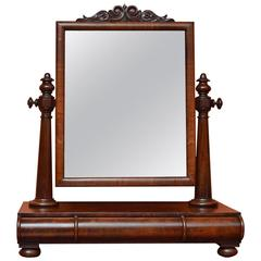 19th Century Victorian Mahogany Dressing Table Mirror