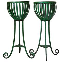 Pair of Wrought-Iron Planters, France, circa 1920s