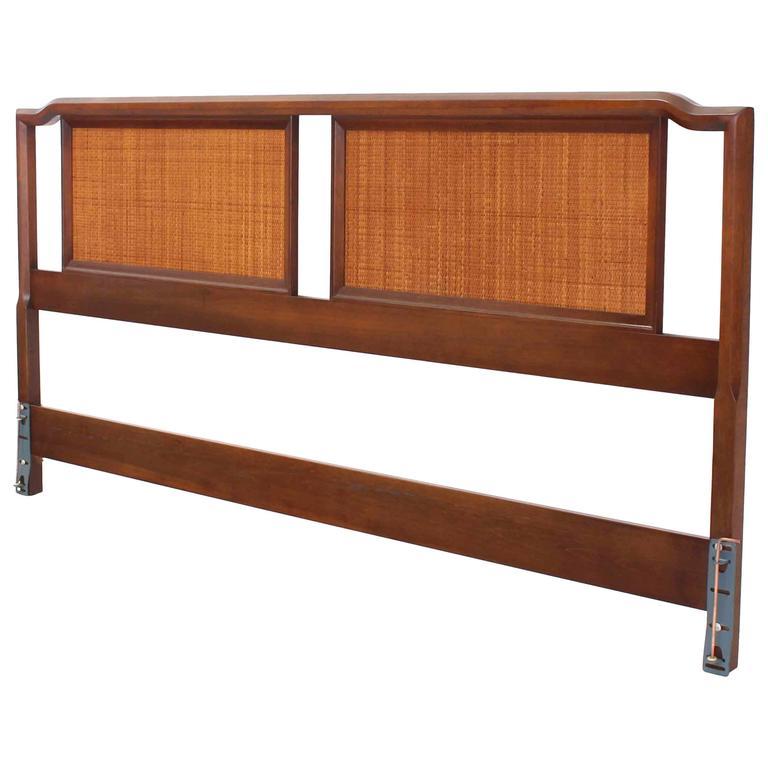 King-Size Walnut Headboard Bed