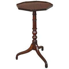 Antique 19th Century English Octagonal Oak Wine Table
