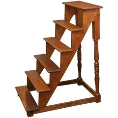 Antique 19th Century Library Stairs