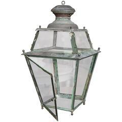Antique 19th Century Copper French Lantern