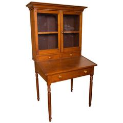 Early 19th Century Country Pine Secretary