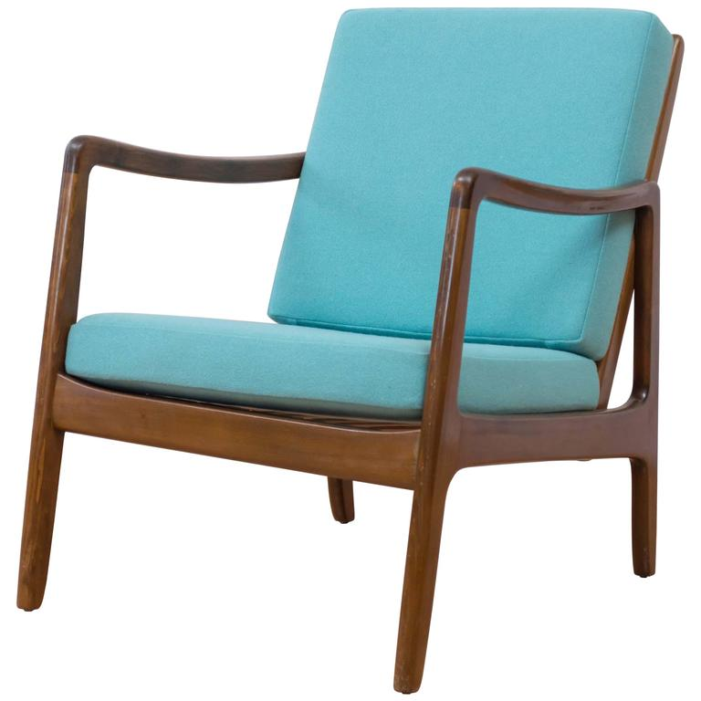 Danish Modern Lounge Chair by Ole Wanscher for France and