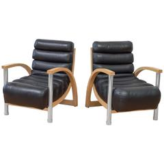 Pair of Eclipse Club Chairs by Jay Spectre for Century