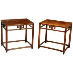Pair of Walnut Tables by Michael Taylor for Baker, circa 1970