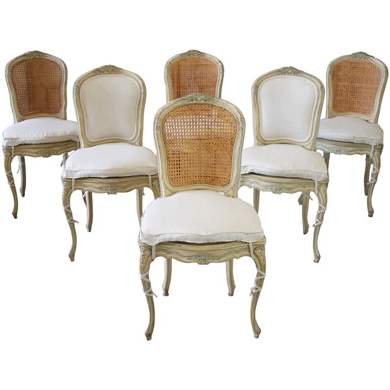 19th Century Louis XV Antique French Cane Dining Chairs  : 4762033l from www.1stdibs.com size 768 x 768 jpeg 49kB