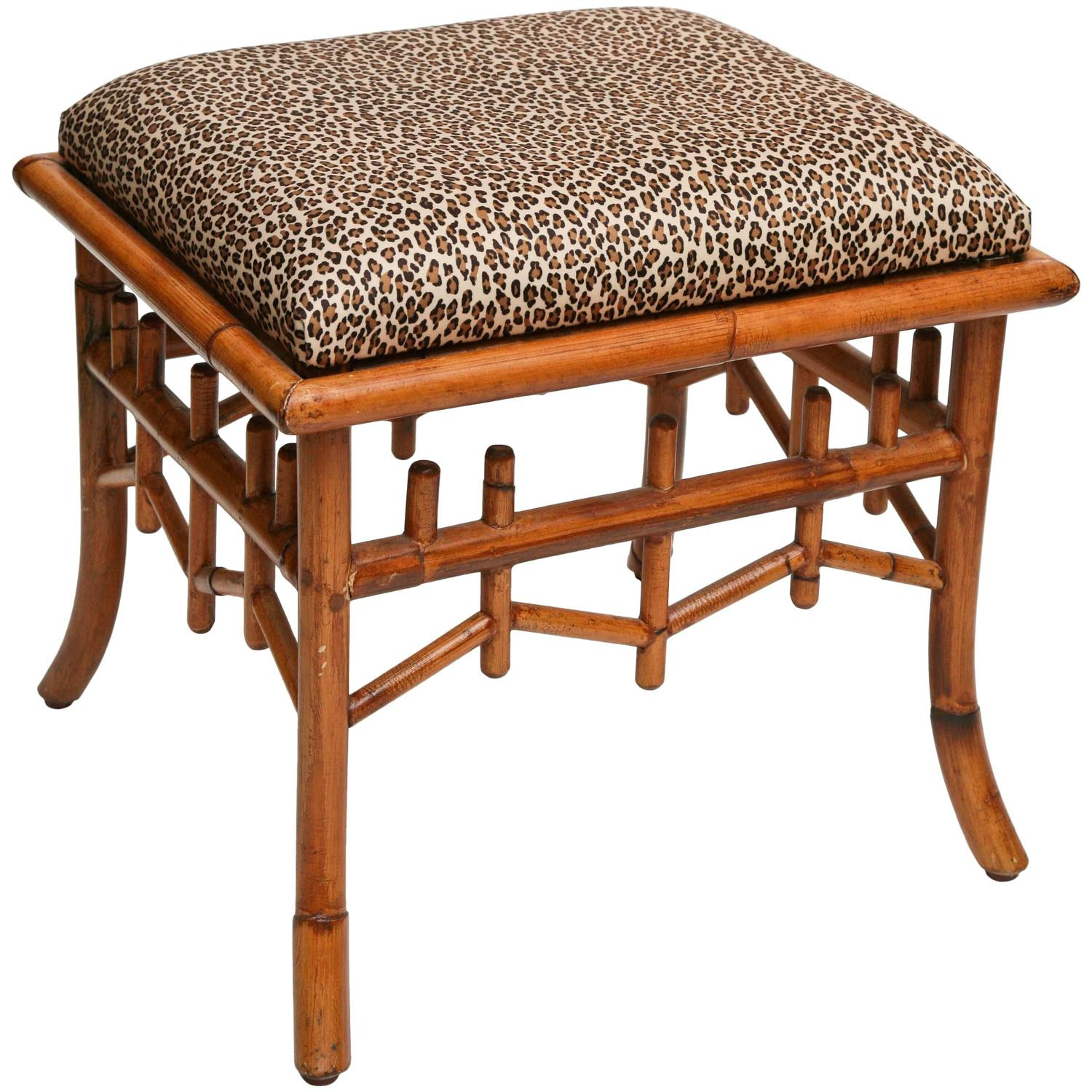 Superb Bamboo Rattan Bench At 1stdibs