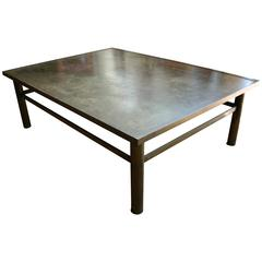 "Philip and Kelvin LaVerne ""Zodiac"" Etched Bronze Rectangular Coffee Table"