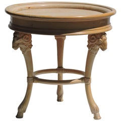 Neoclassical style Rams Head Center Table